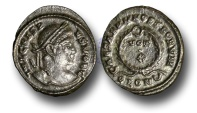 Ancient Coins - RB28 - ROMAN BRTIAIN, Crispus, as Caesar (A.D. 317-326), Bronze Follis, 3.78g., London mint,  A.D. 323-324