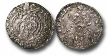 World Coins - AD64 - Italy, Papal Coinage, Urban VIII Barberini (1623-1644), Silver Jules, 28mm, 2.92g., Avignon mint