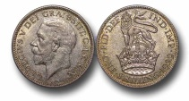 World Coins - EM11 – GREAT BRITAIN, George V  (1910-1936), Silver Shilling, 1929