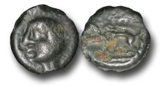 Ancient Coins - EC1118 - CELTIC, Gaul, Leuci, (c.60-40 B.C.), Potin Unit
