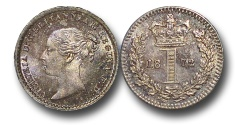 World Coins - EM593 - Great Britain, Victoria (1837-1901), Silver Maundy Penny, 1872