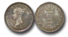 World Coins - EM492 - Great Britain, Victoria   (1837-1901), Silver Maundy Twopence, 1883