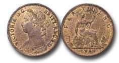 World Coins - EM605 - Great Britain, Victoria (1837-1901), Bronze Farthing, 1884