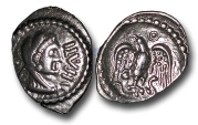 World Coins - TP1 – British Celtic, The Eastern Dynasty (Trinovantian and Catuvellaunian Expansion into Atrebatic Territory), Epaticcus 	(1st half 1st century A.D.), Silver Unit