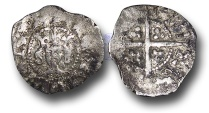 World Coins - JB1722 - ENGLAND, Edward III (1327-1377), Halfgroat, 0.32g., 12mm, Pre-Treaty period (1351-1361), Fourth Coinage, Series E (1354-1355), London mint EXTREMELY RARE