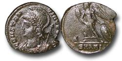 Ancient Coins - R18083 - Constantinian Commemorative Issue, Dedicated the to foundation of Constantinople (A.D. 335-337), Bronze Follis, 2.50g., 18mm,  Antioch mint, AEF