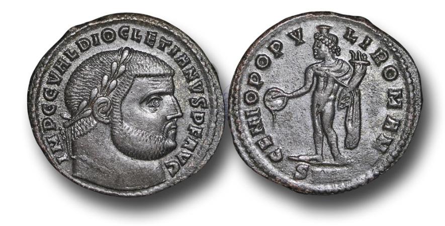 Ancient Coins - R6191 - Diocletian (A.D. 284-305), AE Follis, 9.79g., 28mm, Nicomedia mint