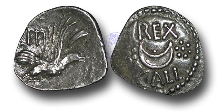 Ancient Coins - AB350 - BRITISH CELTIC, Atrebates and Regni, Eppillus (late 1st century B.C. - early 1st century A.D.), Silver Unit, 1.32g., 19mm, Calleva mint