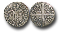 World Coins - H4162 - England, Edward I (1272-1307), Penny, 1.40g., New coinage, class 9b1, (c.1299 to 1300/1), London mint, facing bust of King, star on breast