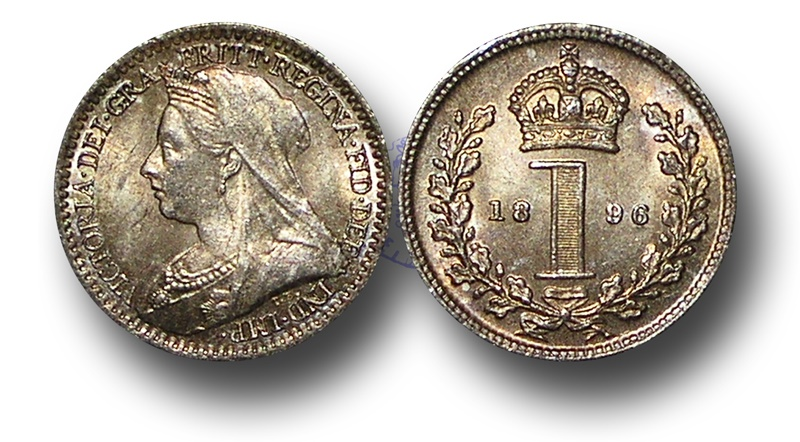 World Coins - EM356 - Great Britain, Victoria   (1837-1901), Silver Maundy Penny,  1896
