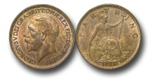 World Coins - EM426 –  Great Britain, George V (1910-1936), Bronze Farthing, 1933