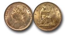 World Coins - EM427 -   Great Britain,  Victoria   (1837-1901), Bronze Farthing, 1886