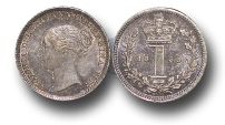 World Coins - EM403 - Great Britain, Victoria   (1837-1901), Silver Maundy Penny, 1885