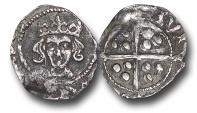 World Coins - JB1703 - Ireland, Edward IV  (1461-1483), Penny, 0.49g., 15mm, Heavy Cross and Pellets Coinage (1465), Dublin mint