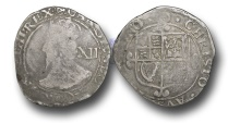 World Coins - CC402 - ENGLAND, Charles I (1625-1649), Tower mint, Silver Shilling, 5.44g., Type 4.4, Sharp G1/2, m.m. Triangle-in-Circle