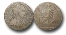 World Coins - EM113 - GREAT  BRITAIN, George III (1760-1820), Copper Halfpenny,  	Contemporary Imitation,  	1774