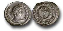 Ancient Coins - RB26 - Crispus, as Caesar (A.D. 317-326), Bronze Follis, 3.84g., London mint