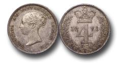Ancient Coins - MD1146 - Great Britain, Victoria (1837-1901), Silver Fourpence, 1871