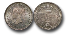 World Coins - EM436 - Great Britain, Victoria (1837-1901), Silver Maundy Twopence, 1878