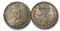 World Coins - MD1592 - Great Britain, Victoria (1837-1901), Silver Threepence, 1887