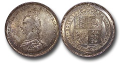 World Coins - EM621 - Great Britain, Victoria (1837-1901), Shilling, 1887, Jubilee Head Coinage