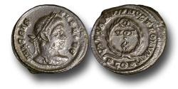Ancient Coins - RB26 - Crispus, as Caesar (A.D. 317-326), Bronze Follis, 3.84g., London mint