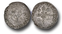 World Coins - ME34 – FRANCE, ROYAL COINAGE, Henri II (1519-1559), Silver Douzain aux Croissants, Paris mint