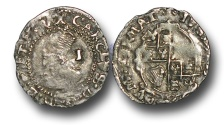 World Coins - H3202 - ENGLAND, Charles I (1625-1649), Penny, 0.43g., Group E, Hawkins 3a3, London