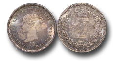 World Coins - EM423 - Great Britain, Victoria   (1837-1901), Silver Maundy Twopence, 1877