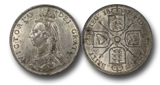 World Coins - EM582 - Great Britain, Victoria  (1837-1901), Florin, 1887, Jubilee Head Coinage