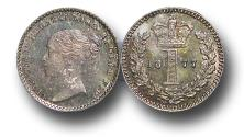 World Coins - MD1388 - 	Great Britain, Victoria (1837-1901), Silver Maundy Penny, 1877 UNC
