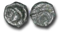 Ancient Coins - EC1115 - CELTIC, Gaul, Bellovacii(?), (c.60-40 B.C.), Potin Unit