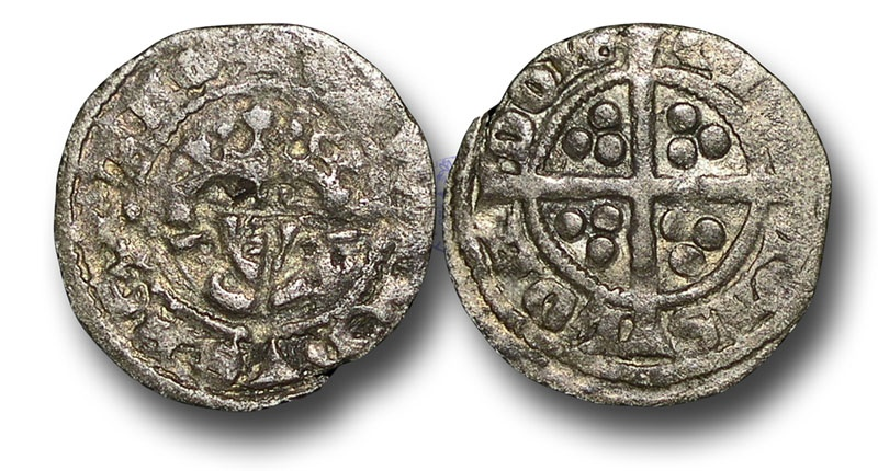 World Coins - H5334 - ENGLAND, Edward I (1272-1307), Halfpenny, 0.45g., 16mm, New coinage, Class 10-11, London mint