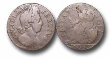 World Coins - EM18 - ENGLAND,     William III   (1694-1702), Copper Halfpenny, 1699