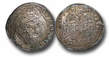 World Coins - AD62 - Italy, Papal Coinage, Julius II (1503-1513), Silver Giulio, 29mm, 3.87g., Ancona mint