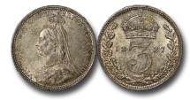 World Coins - EM592 - Great Britain, Victoria (1837-1901), SilverThreepence, 1887
