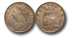 World Coins - EM350 -  	Great Britain,  Victoria   (1837-1901), Bronze Farthing, 1888