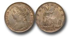 World Coins - EM350 -  Great Britain,  Victoria   (1837-1901), Bronze Farthing, 1888