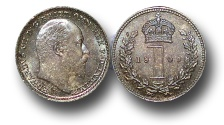 World Coins - EM358 – 	Great Britain,  Edward VII (1901-1910), Silver Maundy Penny, 1905
