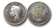 World Coins - EM511 - Great Britain, 	George VI (1936-1952), Proof Cupro-Nickel Shilling, 1950, Scottish type