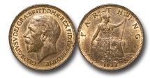 World Coins - EM578 – 	Great Britain, George V (1910-1936), Bronze Farthing, 1933
