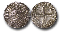 World Coins - TP9 – DENMARK, Harthacnut   (joint king of England 1035-37, sole king of England 1040-1042), Danish Issue, Silver Penny, 0.98g., 18mm, Lund mint (Lund, Skåne (now Sweden)), moneyer