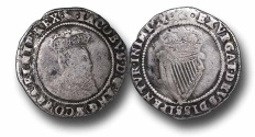 World Coins - IJF1 - IRELAND, James I (1603-1625), Shilling, 4.26g., 27mm, First Coinage (1603-1604), m.m. Marlet (1604), 2nd bust