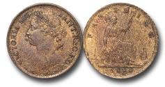 World Coins - EM627 - Great Britain, Victoria (1837-1901), Bronze Farthing, 1884