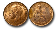 World Coins - EM606 – Great Britain, George V (1910-1936), Bronze Farthing, 1932