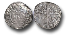 World Coins - H1163 - ENGLAND, Edward I (1272-1307), Penny, 1.32g., New coinage, 10ab3 (1301 to 1310), Canterbury mint