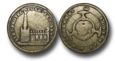 World Coins - M1521 - GREAT BRITAIN, George I (1714-1727), Preservation of the Church of England, 1714, Brass Medal