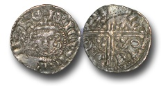 World Coins - H3179 - ENGLAND, Henry III (1216-1272), Penny, 1.42g., Voided Long Cross Coinage, Class 5g, (1251-1272), Nicole - Canterbury