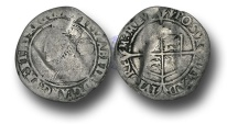 World Coins - RD159 - ENGLAND, Elizabeth I (1558-1603), Silver Sixpence, 2.38g., Third and Fourth issue, m.m. Pheon, 1563?, bust 3E, very large bust