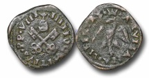 World Coins - AD20 - Italy, Papal Coinage, Julius III (1550-1555), Silver Giulio, 22mm, 1.61g., Aquila degli Abruzzi mint